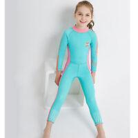 Children 2.5mm Diving Wetsuit Girls Long Sleeve Jumpsuit Rash Guard Swimsuit