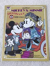 Disney's Mickey & Minnie Steppin' Out Paper Dolls - A Whitman Book - 1977  UNCUT
