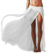 Lannorn Women's 5 Colors Sexy Sarong Side Slit Gauze Mesh Beach Long Skirt Ups