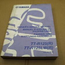 MANUEL REVUE TECHNIQUE D ATELIER YAMAHA TT-R 125 LW 2003 R TTR ENTRETIEN