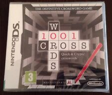 1001 Crosswords Game For Ds Dsi Ds Lite 3Ds Nintendo New & Sealed. 99p UK P&P!