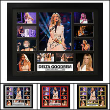 Delta Goodrem Signed Framed Memorabilia Limited Ed. 2017 - Multiple Variations