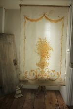 Antique French painted Theater backdrop Neoclassical style c 1890 curtain blind