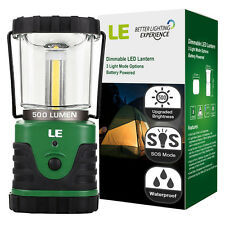 LE 500lm Outdoor LED Lantern, 3 Modes, Portable, Battery Powered, IPX4, Shockpro