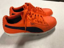 PUMA CLYDE Orange Casual Shoes Sneakers MENS SIZE 9 1/2 Nice!