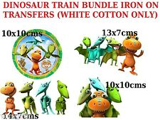 Dinosaur Train BUNDLE 4 Iron on Transfers for WHITE COTTON ONLY