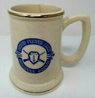 "Army Mug Stein United States Army Infantry School ""Follow Me"" Ceramic USA Vntg"
