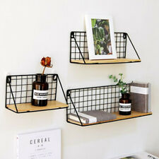 Wall Shelf Floating Hanging Mount Storage Rail Rack Display Room Home Decor