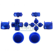 For PS3 Controller Chrome Blue Match Thumbstick DPad Triggers Buttons Parts Kit