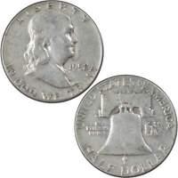 1952 Franklin Half Dollar F Fine 90% Silver 50c US Coin Collectible