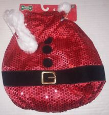 Christmas Santa Claus Suit Dog Costume 2-Piece Set Sz XS/S Extra Small/Small NEW