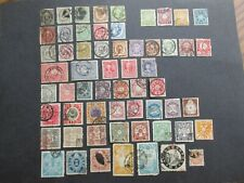 Collection of Old Japan Stamps used High Values + revenues