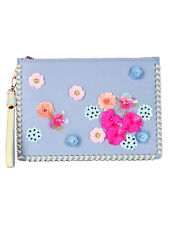 Sophia Webster Lilico embroidered leather clutch