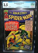 Amazing Spider-Man #11 - 2nd App of Doctor Octopus  - CGC Grade 3.5 - 1964