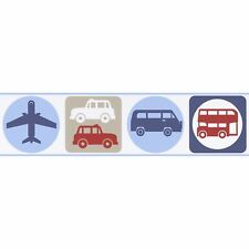 TRANSPORT SELF-ADHESIVE WALLPAPER BORDERS (8957-14) NEW CARS BUSES