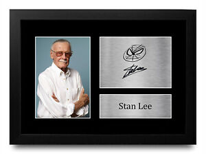 Stan Lee A4 Marvel Great Gift Idea Printed Signed Autograph Picture for Fans