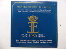 Concours Reine Elisabeth Belgique VERONIQUE BOGAERTS IRINA TSEITLIN Violon 1980