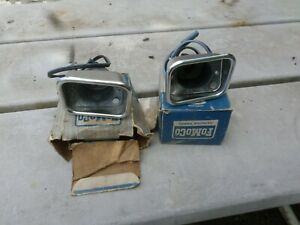 NOS 1962 ford fairlane parking lamp assemblies left and right show quality