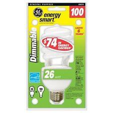6 GE CFL Dimmable 26 Watt Light Bulb 89624 Soft White Spiral Compact Fluorescent