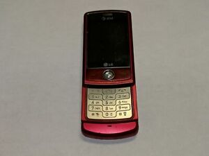 LG Shine CU720 AT&T Wireless 50MB Red Slider Cell Phone *Fully Tested*