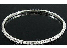 Lots 12Pcs 1Row Clear Stretchy Crystal Rhinestone Anklets Wedding Party Jewelry
