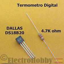 DS18B20 Sensor temperatura 1Wire, termometro de precision + Resistencia Arduino
