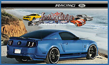 FORD MUSTANG RACING ROCKER PANEL DECAL FACTORY STRIPE