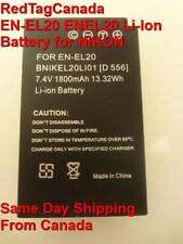NEW EN-EL20 ENEL20 Li-Ion Battery for NIKON 1 J1 Camera 1800mAh - CANADA