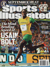 Usain Bolt Jamaican Track & Field SIGNED Sports Illustrated 8/31/09 NO LABEL COA