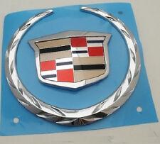"Cadillac ""GAS DOOR COVER"" Large ""WREATH & CREST"" Emblem!!"