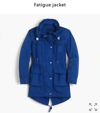 J.Crew Fatigue Hooded Jacket Coat Lagoon Blue $158 XXS