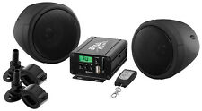 BOSS AUDIO MCBK520B Black 600 watt Motorcycle/ATV Sound System with FM Tuner