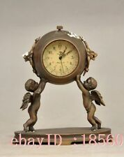 4.72 inch  / Decorative old brass sculpture can use mechanical clock angel child