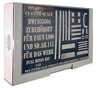 1:35 Das Werk / Custom-Scale DWCS 35004 Zubehörset für Faun L900 und Sd.Ah.115