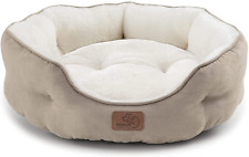 Bedsure Small Dog Bed for Small Dogs Washable - round Cat Beds for Indoor Cats,
