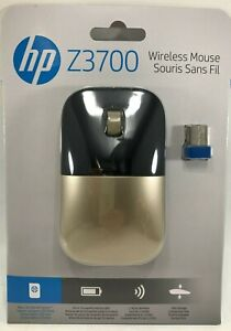 HP - X7Q43AA#ABL - Z3700 2.4GHz Wireless USB Mouse - Gold