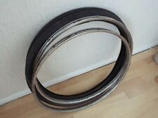 """RARE Pair 24"""" x 1 3/8 Vintage Chrome Rims & Tyres Ideal or for Ratbike or Refurb"""
