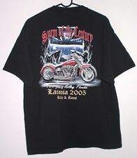 Laconia Rally Races 100 Years T Shirt XL 2005 Storm Of Century Motorcycle Biker