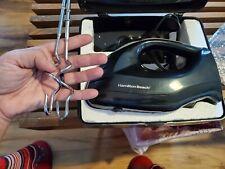 Hamilton Electric Hand Mixer With Case Instant Storage 6 Speeds Black