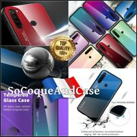 Etui Coque housse Gradient Glass Color TPU PC Hybrid Case Xiaomi Redmi Note 8/8T