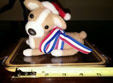 "Ooak Handmade 5"" Needle Felted Christmas Winter Corgi Puppy by Artist Scuznyuki"