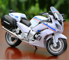 Maisto 1:18 Diecast YAMAHA FJR 1300A Police Motocycle Blue&White Model Car Toys