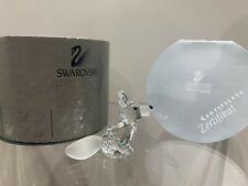Swarovski Crystal Figurine Miniature Fox Sitting Clear 7677 045 000 Mib W/Coa