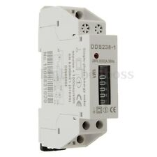 DDS238-1 230V Rail-Type Electronic Type Mini Electricity Meter Counter Display T