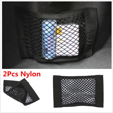 2pc Nylon Car Trunk Rear Cargo Storage Elastic Mesh Net Bag Interior Accessories
