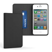Tasche für Apple iPhone 4 / 4S Cover Handy Schutz Hülle Case Etui Schwarz