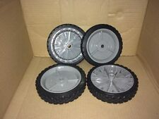 CRAFTSMAN WALK BEHIND PUSH LAWN MOWER WHEELS SET OF 4 FITS MOST ANY TYPE MOWER
