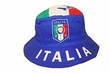 ITALIA COUNTRY FLAG FIGC LOGO FIFA WORLD CUP BUCKET HAT..ADULT SIZE :7 3/8.. NEW