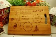 La víspera de Navidad Santa regalo Plato tray/board/plate Personalizado