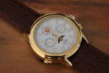 Schweizer Uhr, SWISS MILITAIRE 498 Moon, vergoldet,  echte Mondphase, swiss-made